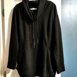 Cowl neck hoodie